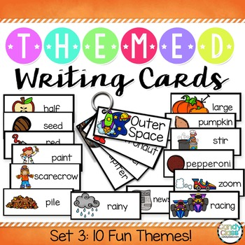 Writing Cards Set #3 (Racing, Cooking, News, Space, Apples, Pumpkins & More)