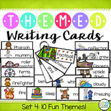 Writing Cards Set #4 (Woodland Animals, Bats, Verbs, Weath