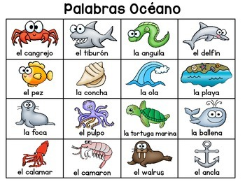 Themed Writing Charts SPANISH