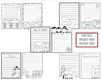 Themed Writing Paper - BIG BUNDLE of 26 themes