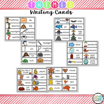 Writing Card Set #5 (Gingerbread Man, Magic Show, Winter, Verbs, Flying & More)