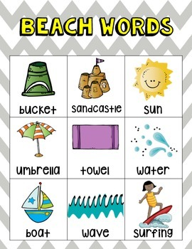 Themed Writing Word Cards