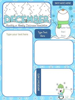 original-428000-2 January Pre Newsletter Template Free on christmas family, microsoft word, preschool classroom,