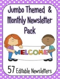 Themed and Monthly Newsletter Jumbo Pack - 57 editable templates