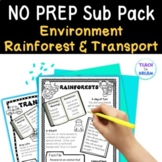 Mini Themed Units: Rainforest, Transport, Environment theme BUNDLE