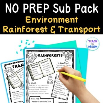 Mini Themed Units: Rainforest, Transport, Environment them
