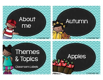 Themes & Topics - Classroom Labels