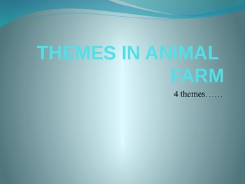 Themes in Animal Farm: Dystopia, Abuse of Power, and Rebellion