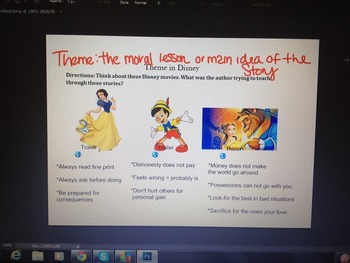 Themes in Disney Smart Board Activity