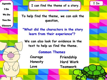Themes in Fables: Flipchart and Worksheets