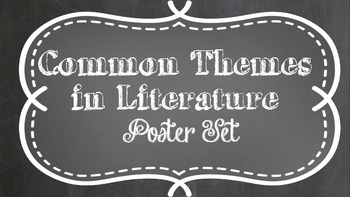 Themes in Literature Chalkboard  Posters