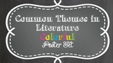Themes in Literature Pop of Color Chalk Poster