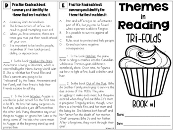 Themes in Reading: Four Targeted Tri-folds