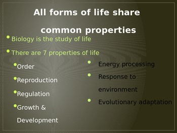 Themes of Biology PPT