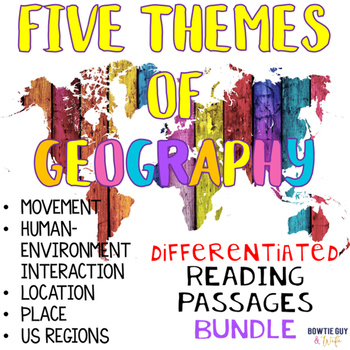 Themes of Geography Nonfiction Differentiated Reading Text