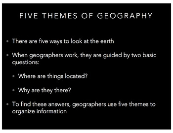 World Geography: Themes of Geography PowerPoint