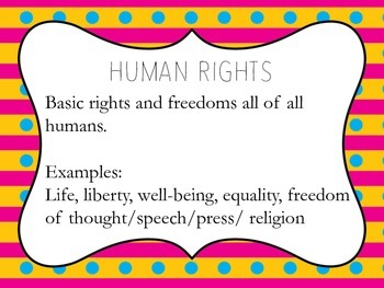 Themes of Global Studies Classroom Printable Posters