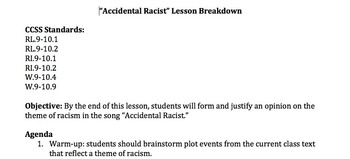 Themes of Racism Extension Activity