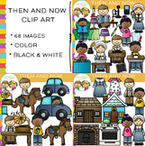 Then and Now Clip Art