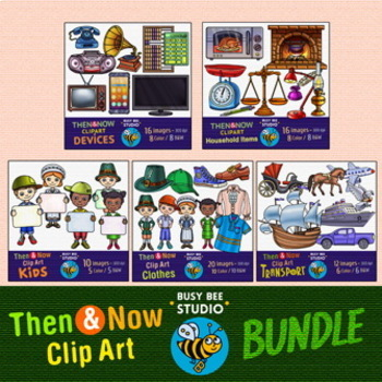 Then and Now Clip Art Bundle
