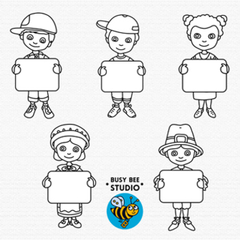 Then and Now Clip Art Set: Kids