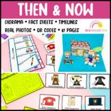 Then and Now History Unit Activities Diorama Flip Book BTSDOWNUNDER