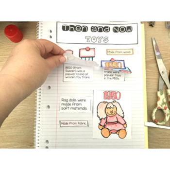 Then and Now Interactive Notebook - bring history to life (HASS)