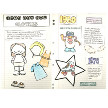 Then and Now Social Studies Interactive Notebook