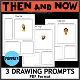 Then and Now No Prep Art Activities Freebie