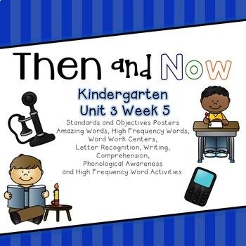 Then and Now Kindergarten Unit 3 Week 5