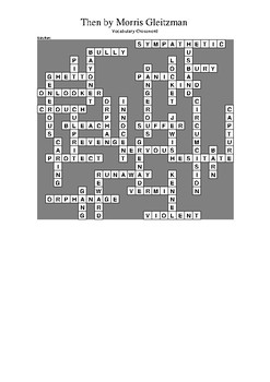 Then by Morris Gleitzman - Vocabulary Crossword Puzzle
