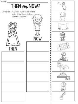 Then or Now? Cut and Paste Sorting Activity
