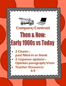 World War I Comparison Chart Early 1900s & Today Pre-Filled or Research Versions