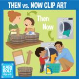 Then vs. Now Clip Art