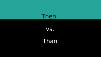 Then vs. Than