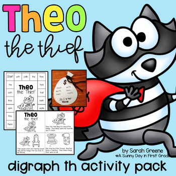 Theo the Thief (digraph th activity pack!)
