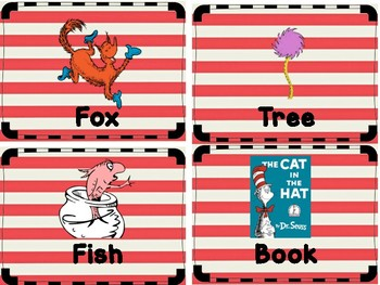 Theodor Geisel Dr. Seuss Differentiated Write the Room - Low Prep