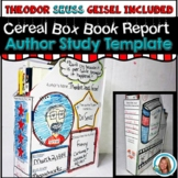 Dr. Seuss Week Activity Theodor Seuss Geisel | Cereal Box Template