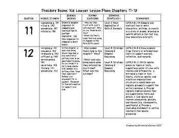 Theodore Boone Chapters 11-13 Lesson Plans