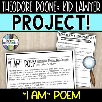 Theodore Boone: Kid Lawyer - I Am Poem