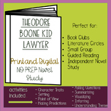Theodore Boone Kid Lawyer Novel Study - Distance Learning