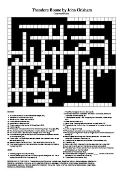 Theodore Boone by John Grisham - Crossword Puzzle