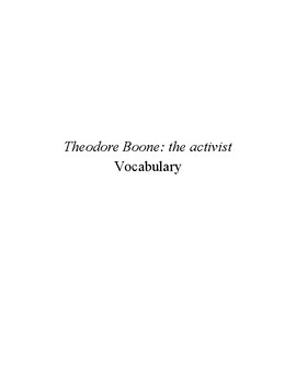 Theodore Boone: the activist ~ Vocabulary
