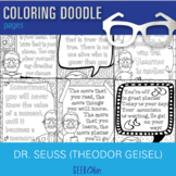Theodor Geisel Dr. Seuss Growth Mindset Quotes Coloring Pa