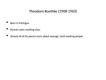Theodore Roethke PowerPoint