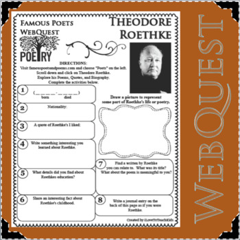 Theodore Roethke - WEBQUEST for Poetry - Famous Poet