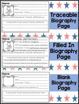 Theodore Roosevelt Biography Study- Differentiated for First Grade