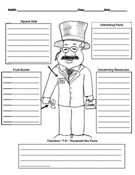 26th President - Theodore Roosevelt Graphic Organizer