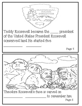 Theodore Roosevelt Informational Fill in the Blank Book