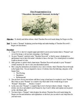 Theodore Roosevelt Pennant Activity